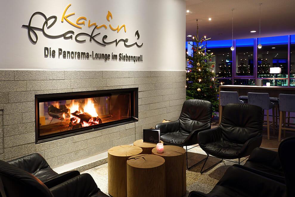 Siebenquell Hotel – Gastronomie – Kaminflackerei