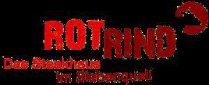 Siebenquell Hotel – Gastronomie – Steakhaus RotRind – Logo transparent